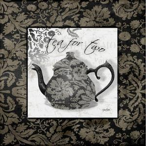 Gray Tea Damask by Diane Stimson