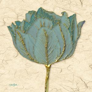 Muted Teal Tulip 1 by Diane Stimson