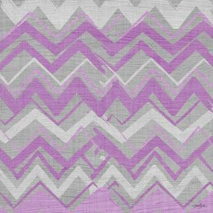 Orchid Gray Stripes 2 by Diane Stimson