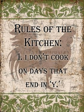 Rules of Kitchen 1 by Diane Stimson