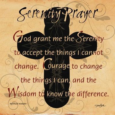 Serenity Prayer Cross by Diane Stimson