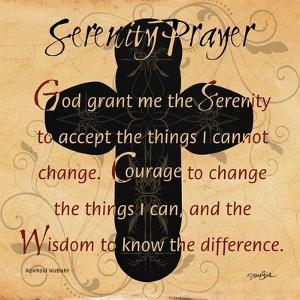 Serenity Prayer Cross by Diane Stimson