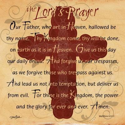 The Lords Prayer Cross by Diane Stimson