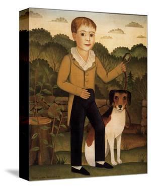 Boy with Dog by Diane Ulmer Pedersen