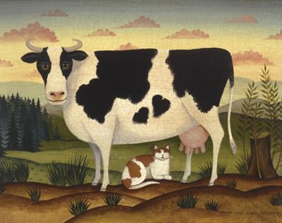 Cow and Cat by Diane Ulmer Pedersen