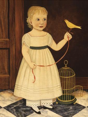 Girl with Bird by Diane Ulmer Pedersen