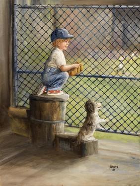 Kid with Baseball by Dianne Dengel