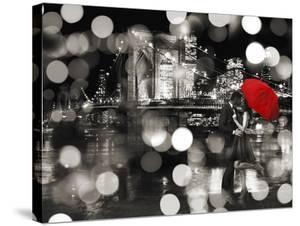 A Kiss in the Night (BW) by Dianne Loumer