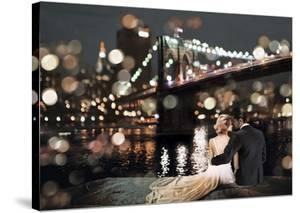 Kissing in a NY Night by Dianne Loumer
