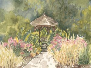 Watercolor Garden IV by Dianne Miller