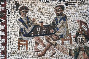 Dice Players, Detail of Mosaic