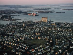 Aerial View of Stavanger by Dick Durrance