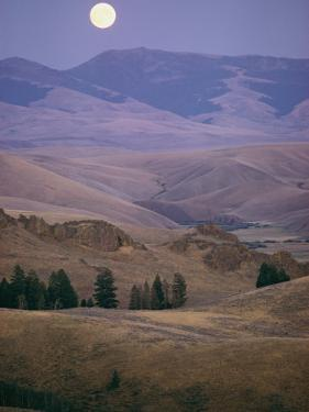 Moonrise over Idaho Hills by Dick Durrance