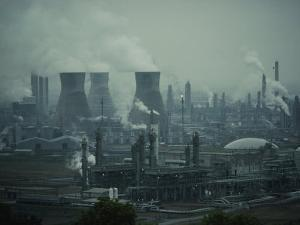 Oil Refinery in Scotland by Dick Durrance
