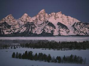 Winter View of the Teton Range by Dick Durrance