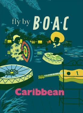 Caribbean - Caribbean Steel Drummers - Fly There by BOAC by Dick Negus and Philip Sharland