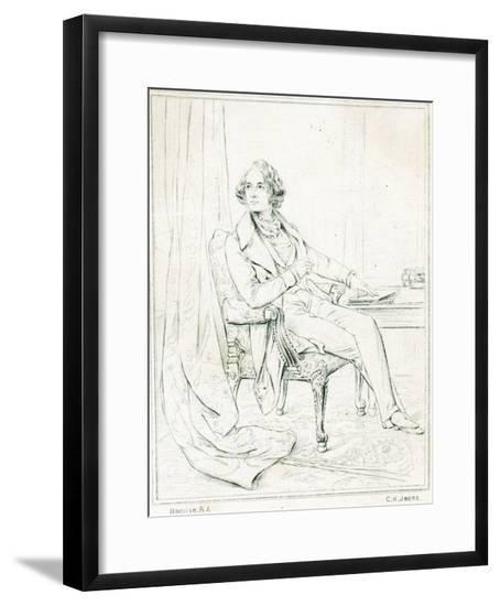 Dickens Maclise Outline--Framed Giclee Print