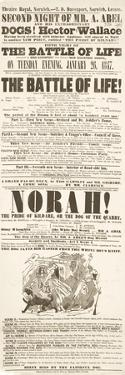 Dickens Playbill: 'The Battle of Life', at Theatre Royal, Norwich, 26H January 1847