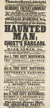 Dickens Playbill: 'The Haunted Man', at Adelphi Theatre Royal, 28th December 1848