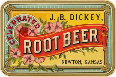 Dickey Root Beer Label