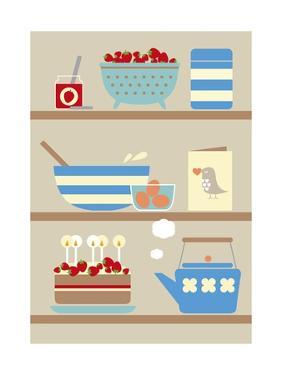 Kitchen Shelves by Dicky Bird