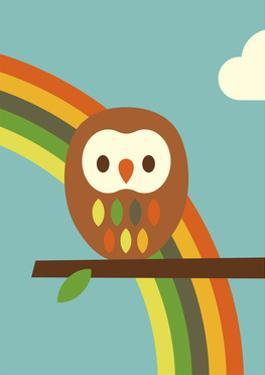 Owl and Rainbow by Dicky Bird