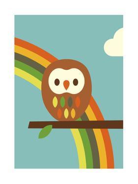 Owl and Rainbow by Dicky Bird