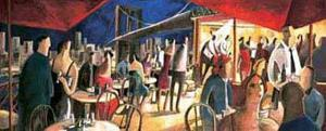 Cafe on the River by Didier Lourenco