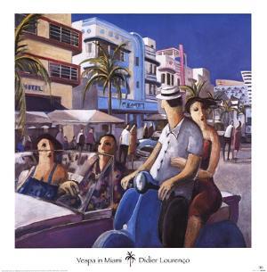 Vespa in Miami by Didier Lourenco