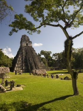The Great Plaza at Tikal Archeological Site. by Diego Lezama