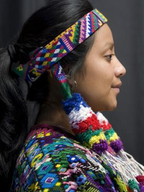 Woman Dressed with Huipil from Concepcion Chiguirichapa by Diego Lezama