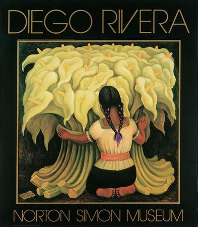 Girl with Lilies by Diego Rivera
