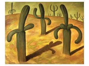 Landscape with Cacti by Diego Rivera