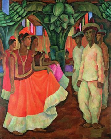 Tehauntepec Dance by Diego Rivera
