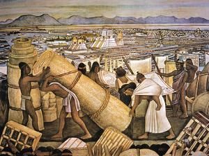 Tenochtitlan (Mexico City) by Diego Rivera