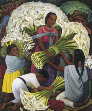 The Flower Vendor by Diego Rivera