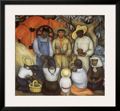 Triumph of the Revolution, Distribution of Food by Diego Rivera