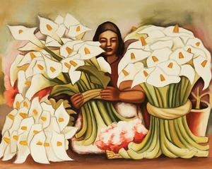 Vendedora Alcatraces by Diego Rivera