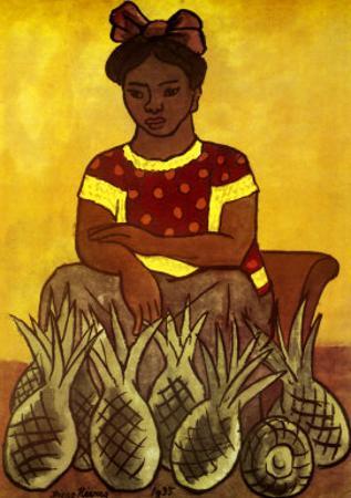 Vendedora De Pinas by Diego Rivera