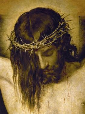Crucified Christ (Detail of the Head), Cristo Crucificado by Diego Velazquez