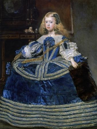 Infanta Margarita Teresa (1651-167) in a Blue Dress, 1659 by Diego Velazquez
