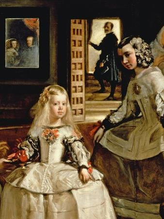Las Meninas, Detail of the Infanta Margarita and Her Maid, 1656 (Detail) by Diego Velazquez