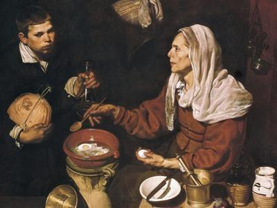 Old Woman Cooking Eggs by Diego Velazquez