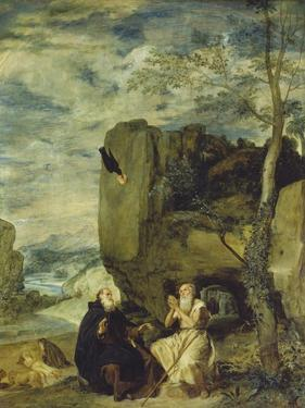 St, Anthony the Abbot and St, Paul the First Hermit, Ca. 1642 by Diego Velazquez