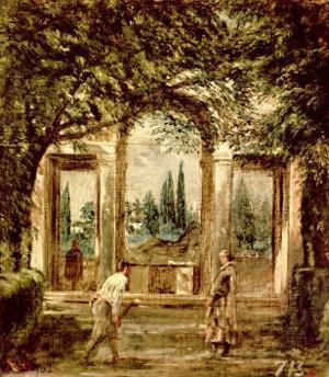 The Gardens of the Villa Medici in Rome, c.1650-51 by Diego Velazquez