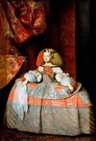 The Infanta Maria Marguerita (1651-73) in Pink by Diego Velazquez