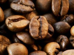 Close-Up of Coffee Beans, Filling the Picture by Dieter Heinemann