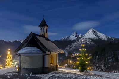 Chapel at the Lockstein, Berchtesgaden, Watzmann, Berchtesgadener Land, Bavaria, Germany
