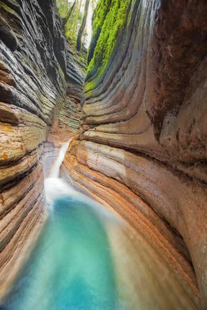 Rock Formation at Tauglbach, Waterfall, Salzburg, Austria