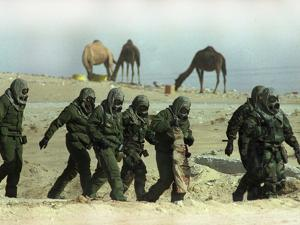 Saudu Arabia Army U.S. Marines Chemical Suits and Masks Warfare by Diether Endlicher